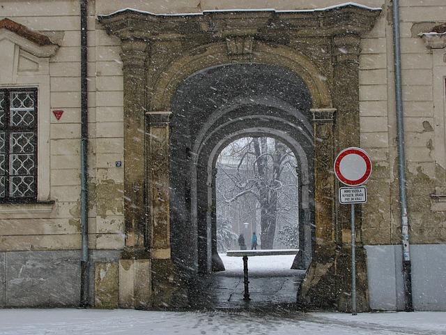 Free snow park tor snowing street winter