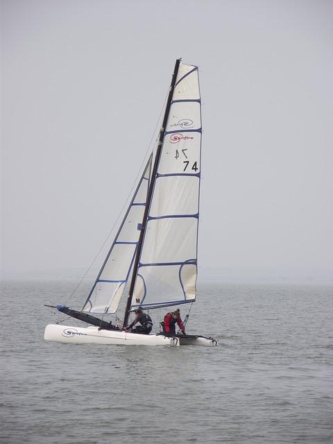 Free sailing boat water sea coast yacht white holiday