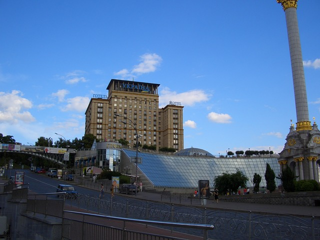 Free kiew ukraine city fountain building structure