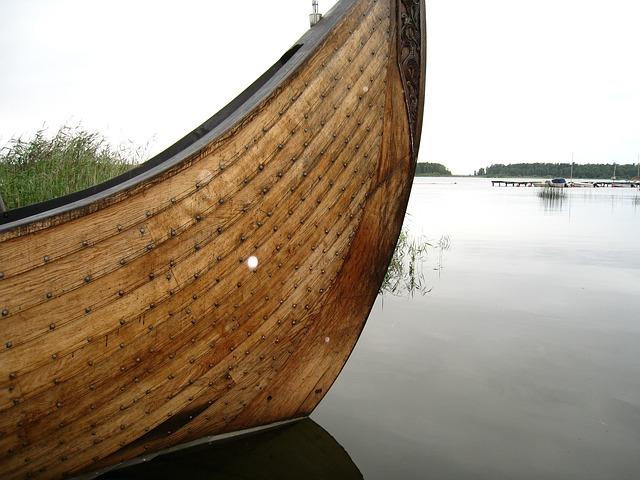 Free viking boat counter water summer natural sky blue