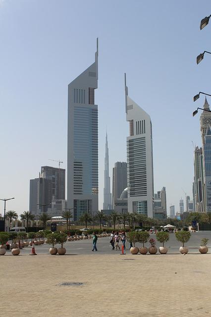 Free dubai skyscraper city burj kalifa architecture sky