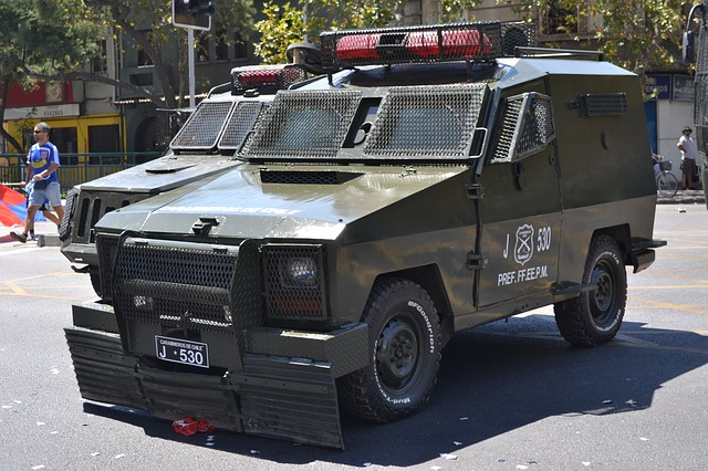 Free police armed vehicle protest santiago chile