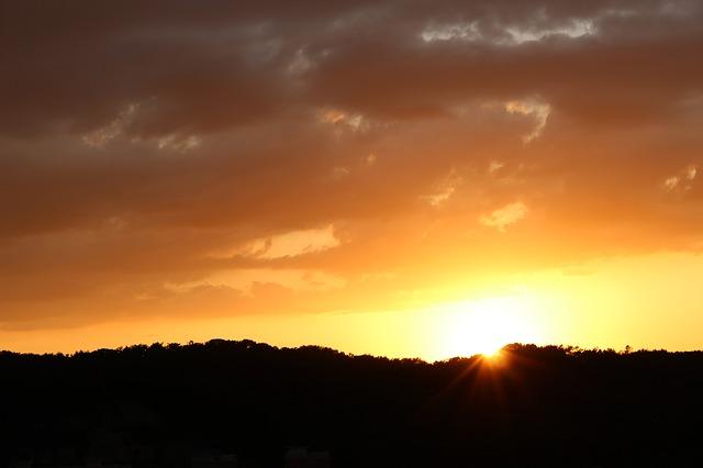 Free sunrise winter sunrise in the morning sky landscape