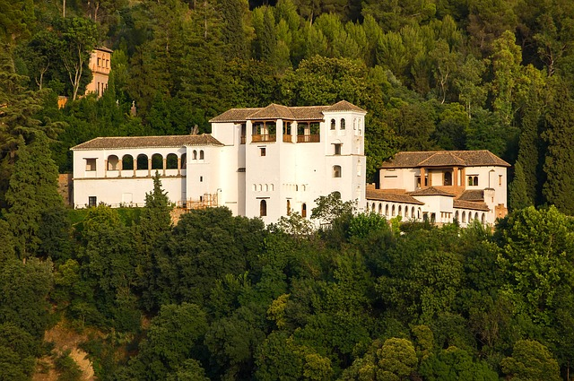 Free granada spain palace estate architecture buildings