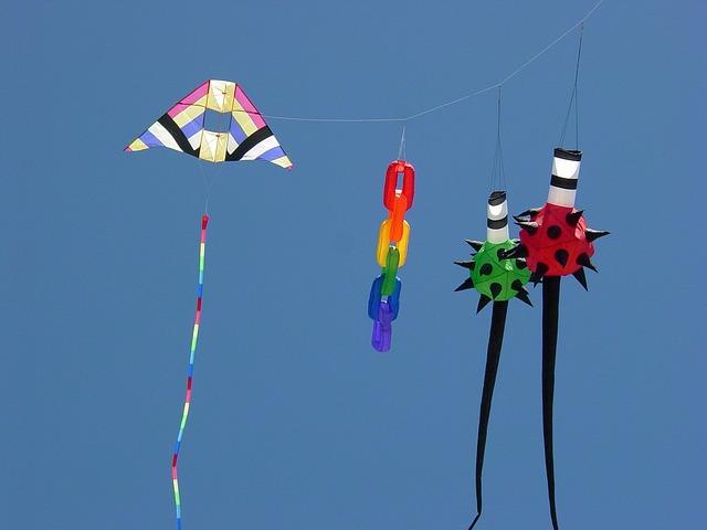 Free kites colorful sky summer summer sky freedom