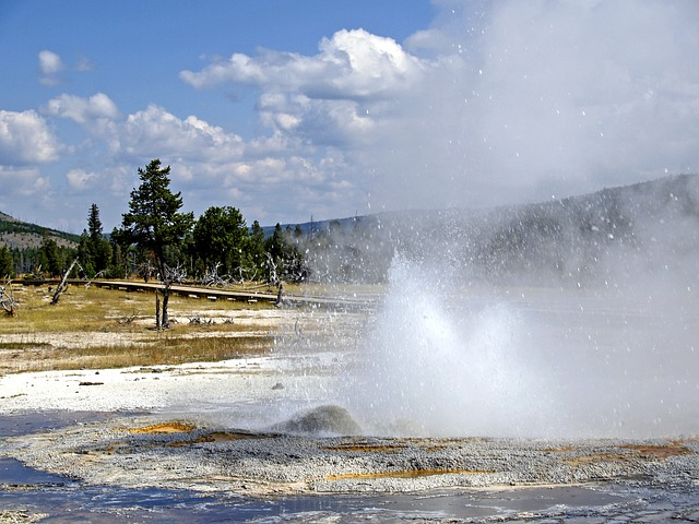 Free yellowstone national park wyoming usa geyser