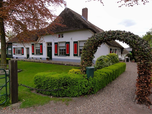 Free netherlands house home plants hedge architecture
