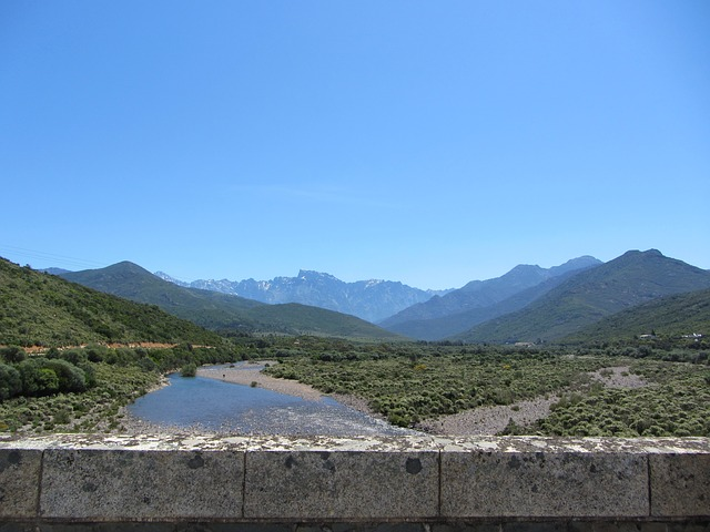 Free corsica river stones mountains nature