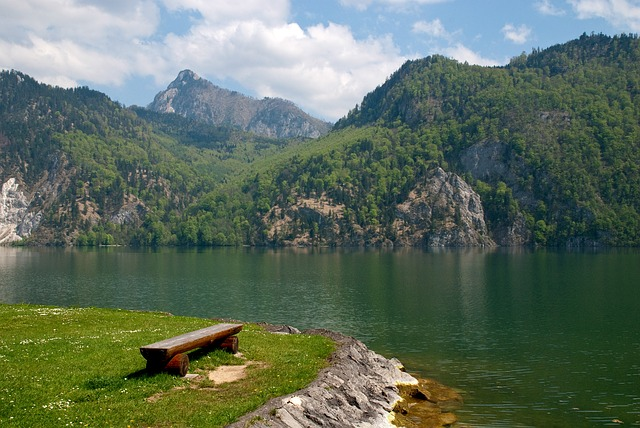 Free traunsee see austria water mountains holiday