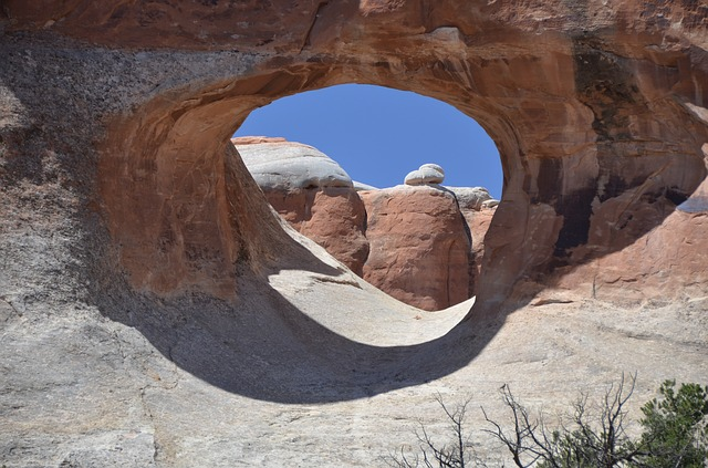 Free tunnel arch arches national park utah usa