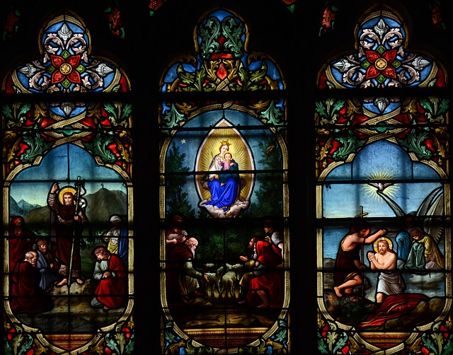 Free notre dame cathedral france architecture glass