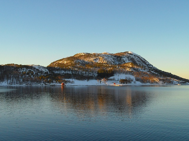 Free norway scenic landscape harbor bay water