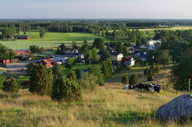 Free falköping sweden landscape scenic village town