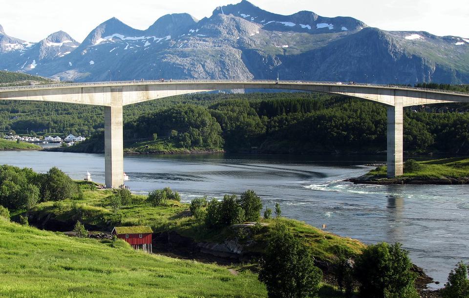 Free Famous bridge over Saltstrumen, Norway