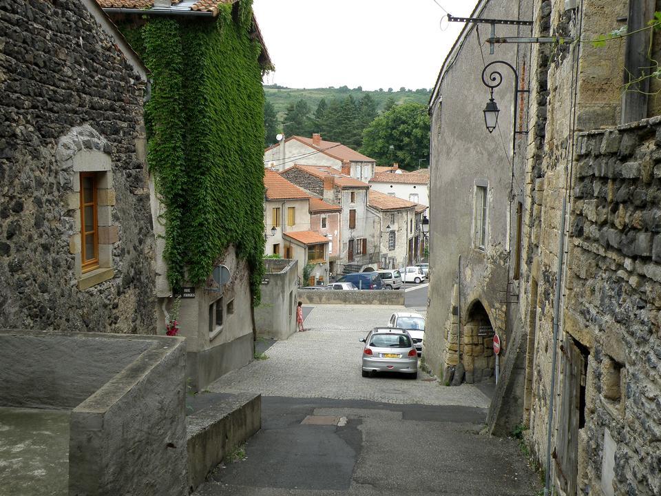 Free street in Saint-Saturnin, Puy de Dome, France