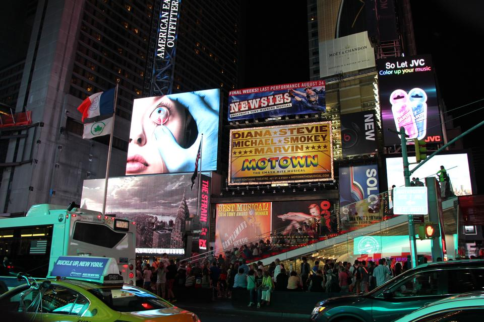 Free Times Square Broadway Theaters and LED signs