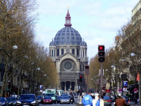 Free View on Saint - Augustin Church in Paris