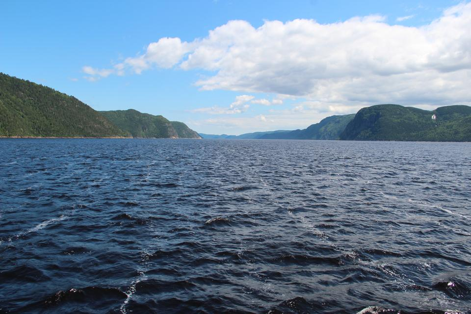 Free A narrowing on the lower Saguenay Fjord in Quebec