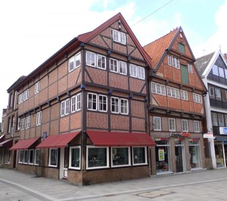 Free Hamburg, old framework buildings