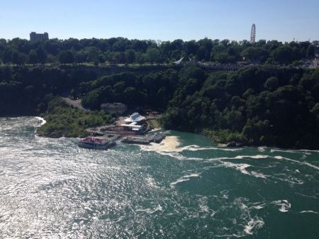 Free Tourists boarding the Maid of the Mist in Niagara Falls, Canada