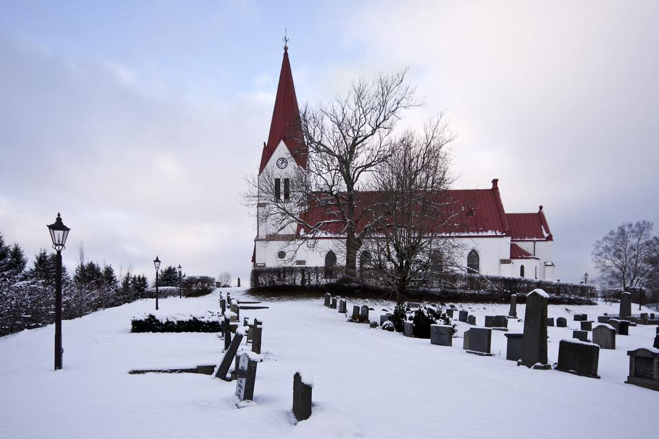 Free Photos: A Small Swedish church in winter landscape | eurosnap