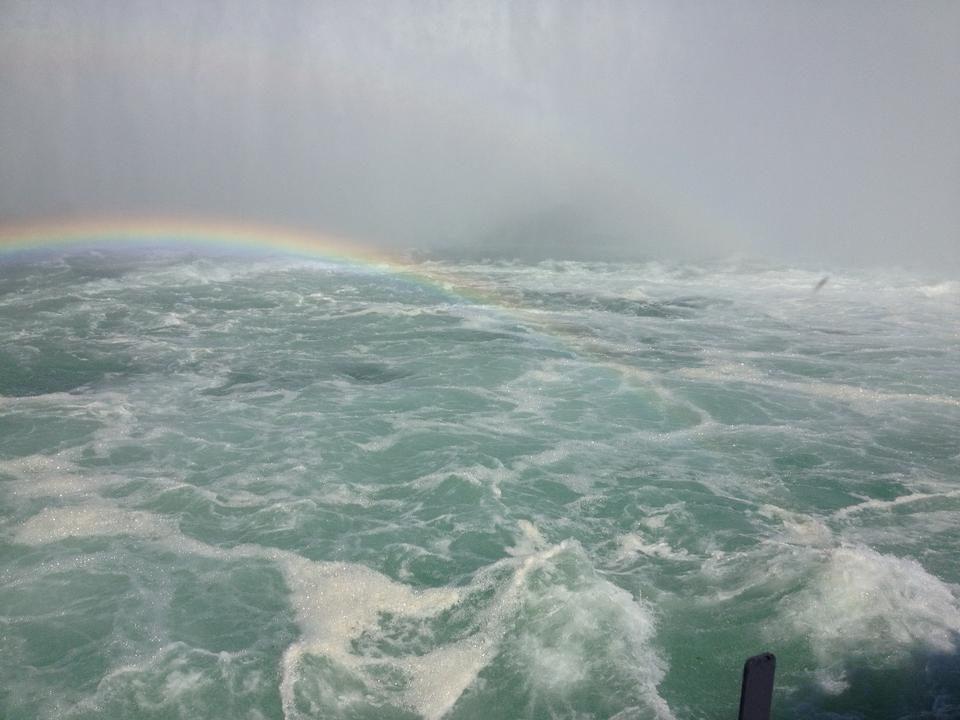 Free Niagara Falls in the morning with rainbow