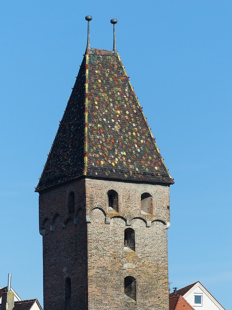 Free metzgerturm ulm tower roof spire building masonry