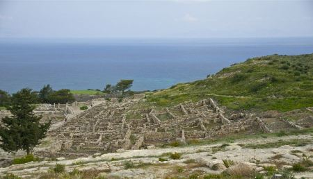 Free Partial view of the ancient city of Kameiros, island of Rhodes