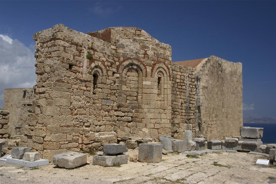 Free The ruins of an ancient byzantine church