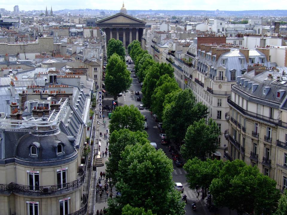 Free Street View Tronchet towards the Church of the Madeleine, Paris