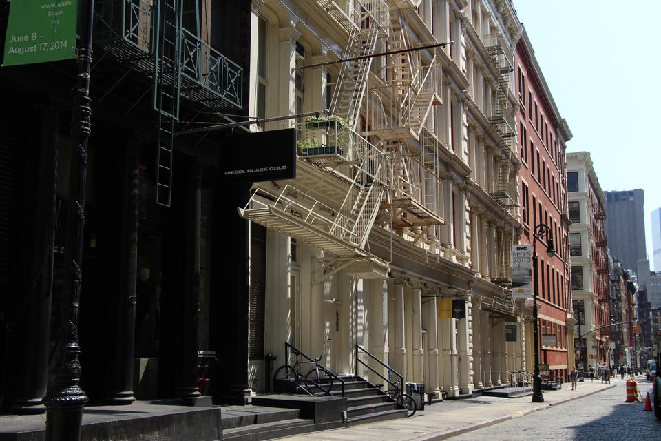 Free Soho New York fire escapes