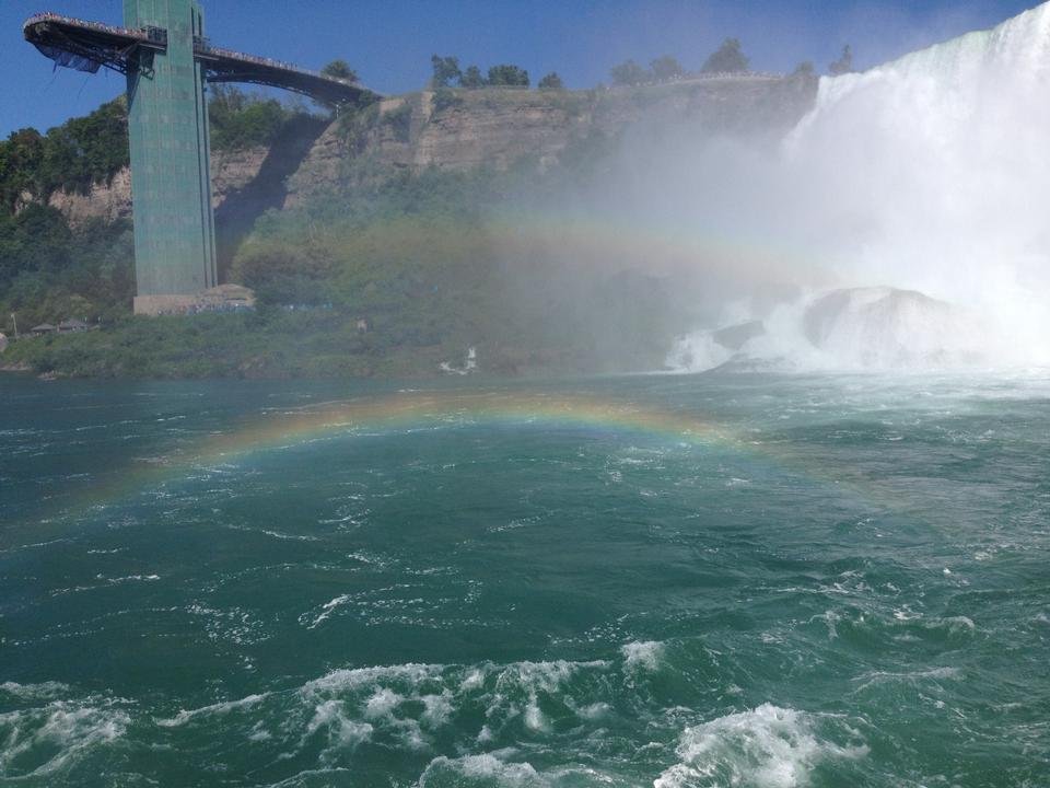 Free American Falls and rainbow, Niagara