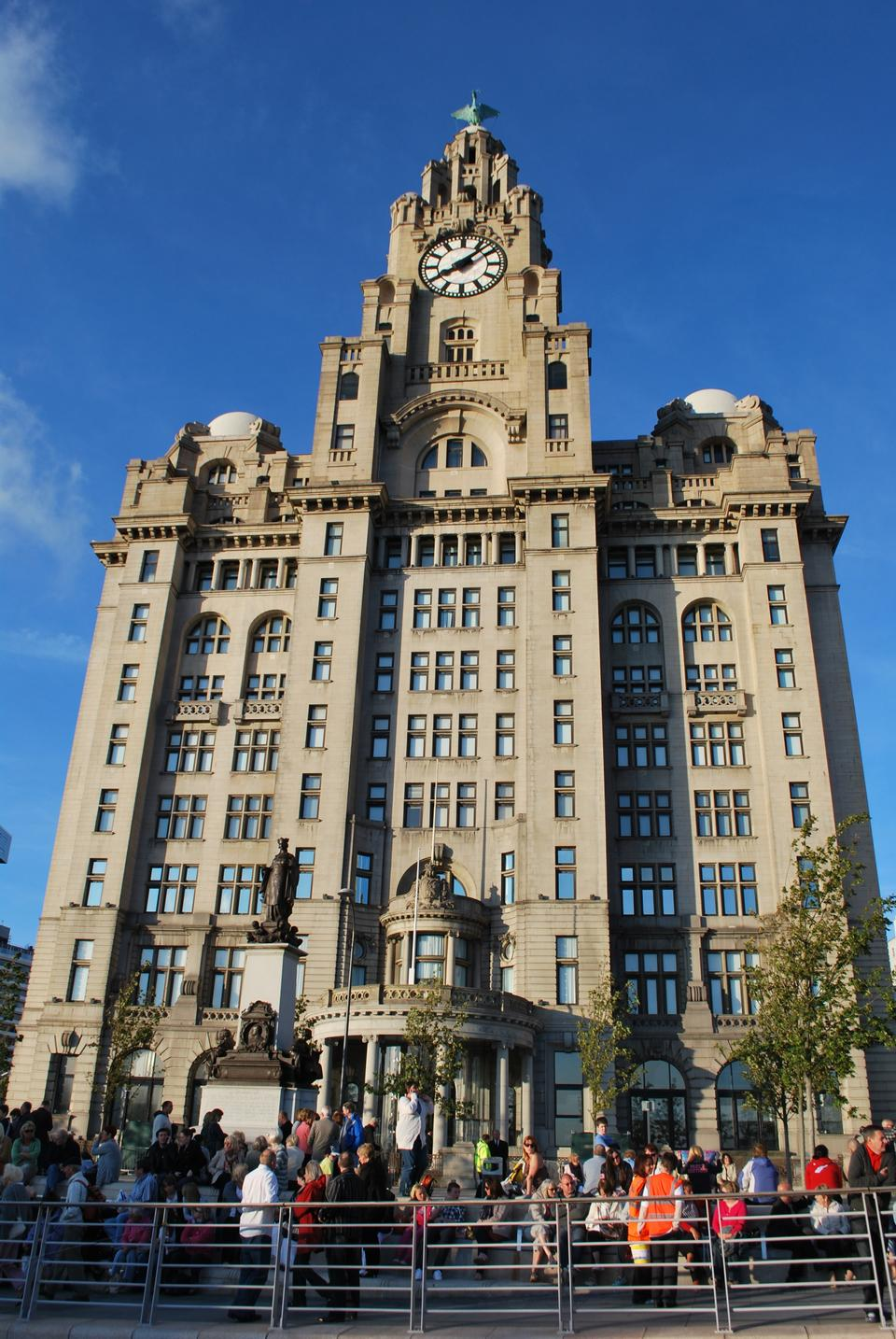 Free Royal Liver Building in Liverpool, England