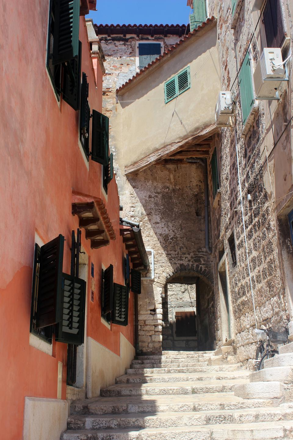Free Narrow stone street of Rovinj, Croatia
