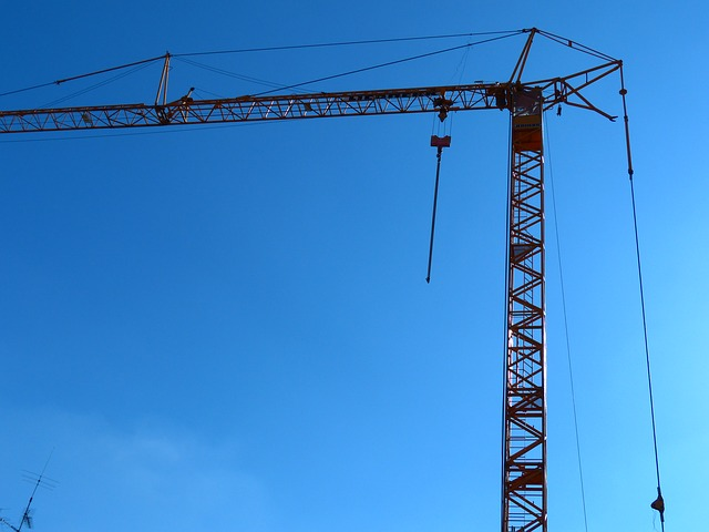 Free crane baukran site sky build lift loads last