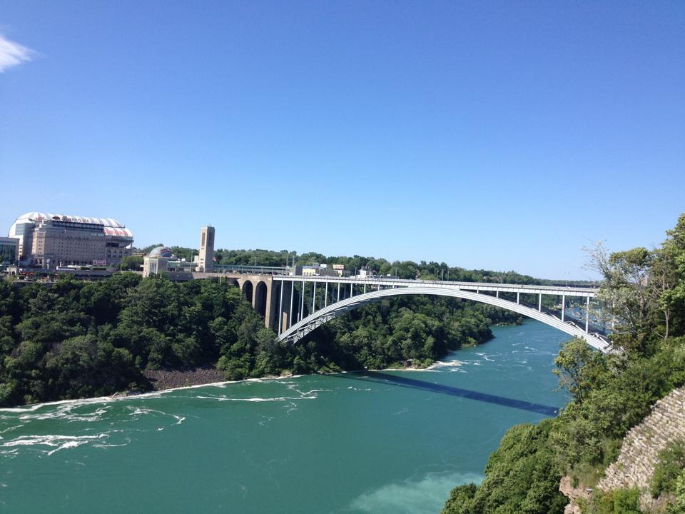 Free Rainbow Bridge at Niagara Falls USA, and Canada Border
