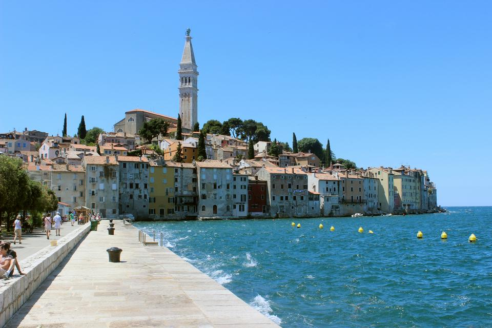 Free The Pier and the City of Rovinj on Istria Peninsula in Croata