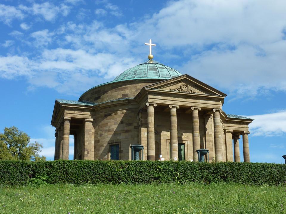 Free Grave chapel at Stuttgart in summer, Germany