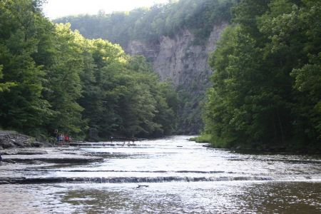 Free Path to Taughannock Falls in the state park