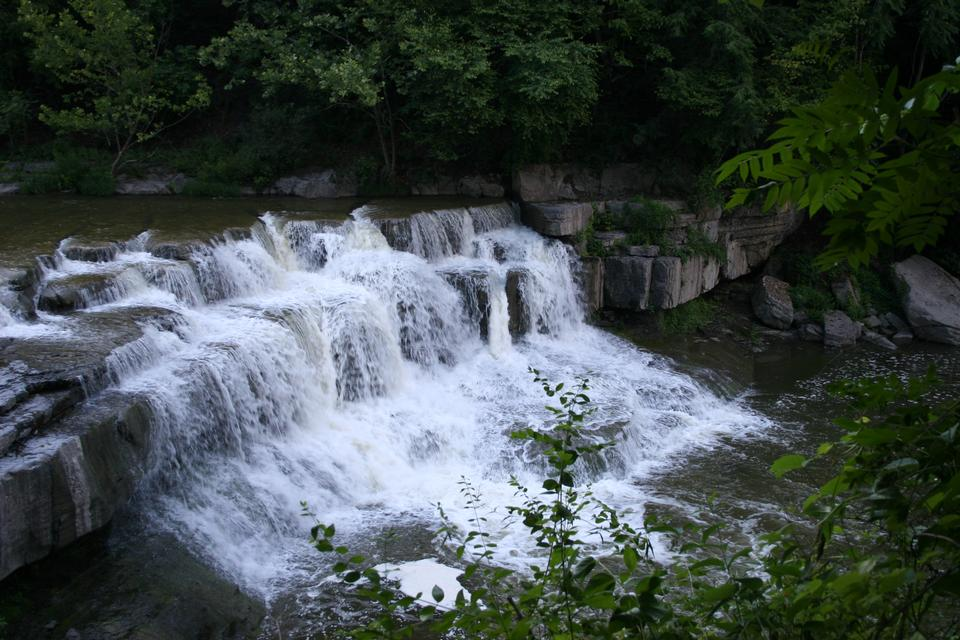 Free Beautiful waterfalls with rock formations at Taughannock Park