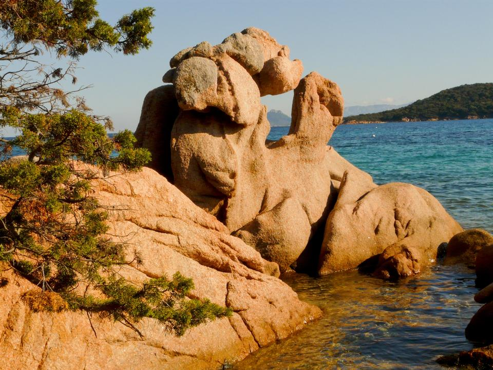 Free Capo Testa rock formations at sunset in Santa Teresa di Gallura