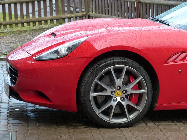 Free auto red ferrari fast sport sports car speed