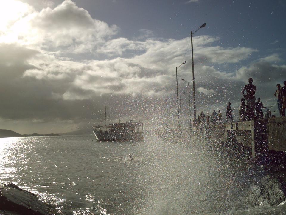 Free Pier seen through wave splash