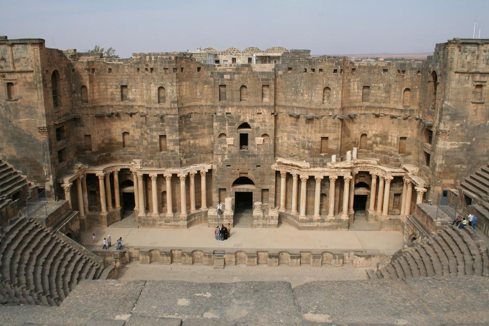 Free South Theater, Ancient Roman city of Gerasa of Antiquity