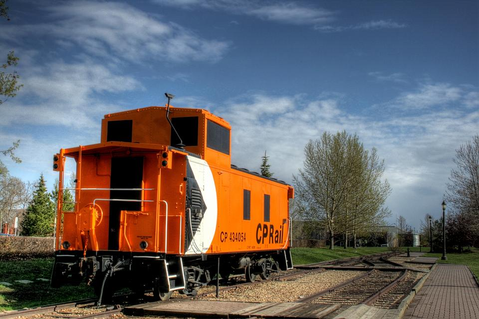 Free Railway car in the End of Steel Park in Edmonton