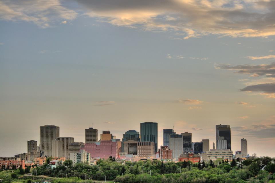 Free East downtown skyline of Edmonton, Alberta, Canada