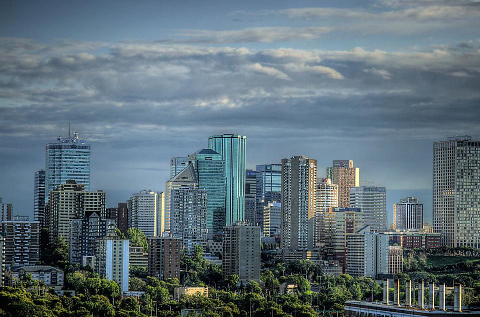 Free Downtown skyline, Edmonton
