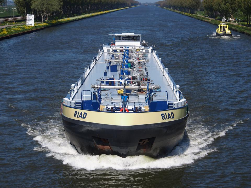 Free Cargo ship Amsterdam-Rhine canal, Netherlands