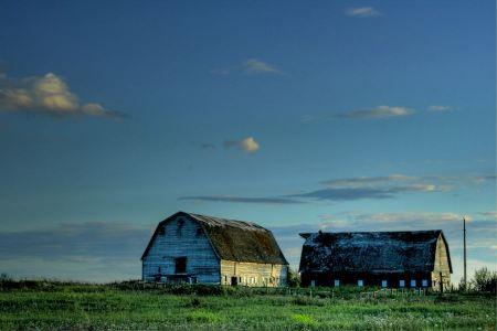 Free Farm buildings near Alberta, Canada.