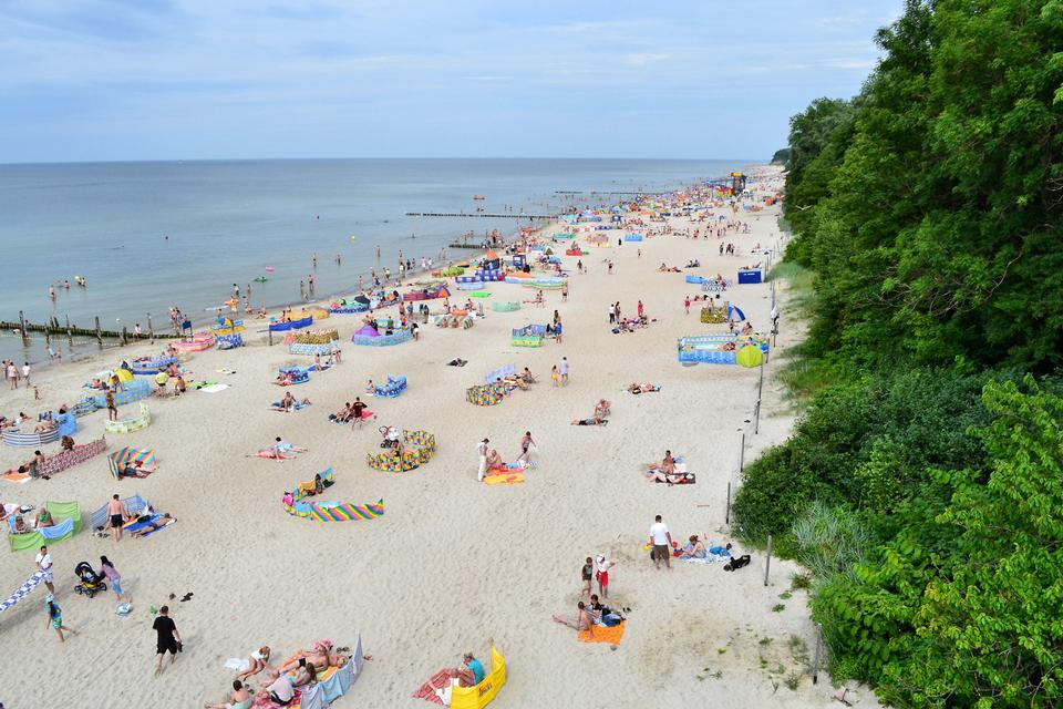 Free Beautiful beach at Baltic Sea in Rewal, Poland
